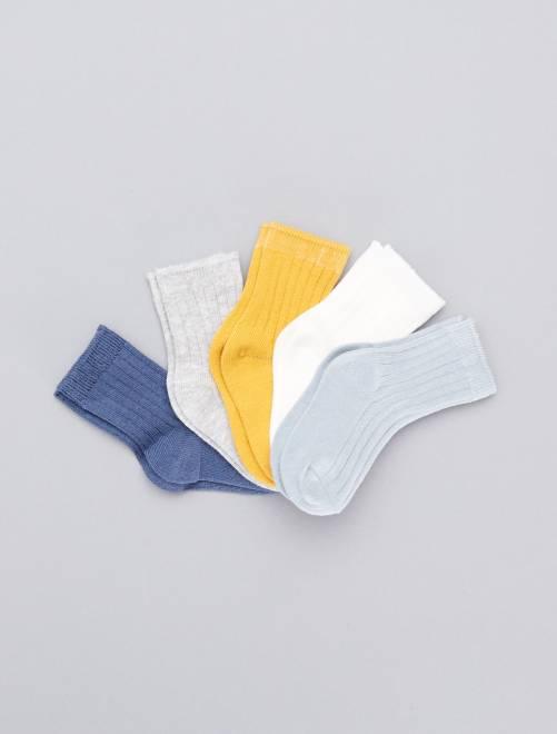 Lot de 5 paires de chaussettes                                         bleu