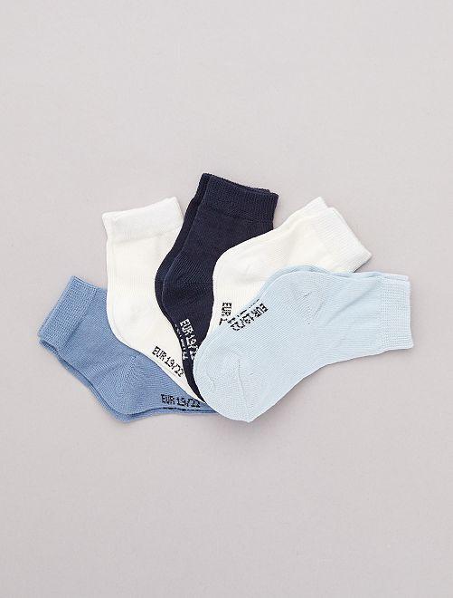 Lot de 5 paires de chaussettes                                         bleu/marine/beige