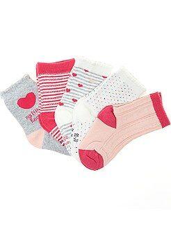 Chaussettes, collants - Lot de 5 paires de chaussettes - Kiabi