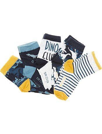 Lot de 5 paires de chaussettes 'dinosaures' - Kiabi