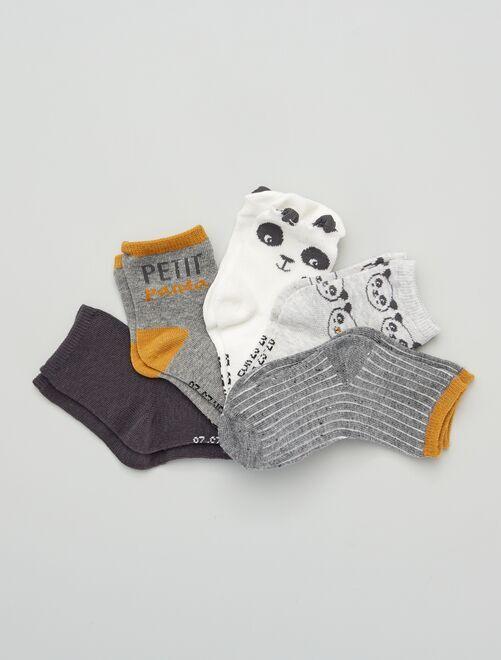 Lot de 5 paires de chaussettes éco-conçues                                                                                                                 gris