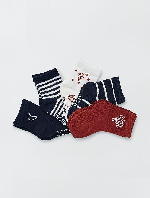 Lot de 5 paires de chaussettes éco-conçues                                                                                                                                                                 mne/blc
