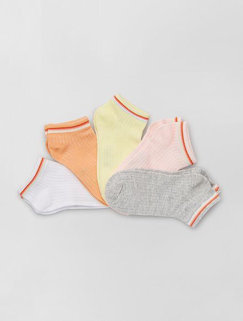 Lot de 5 paires de chaussettes éco-conçues                             ROSE