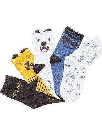 Lot de 5 paires de chaussettes fantaisie - Kiabi