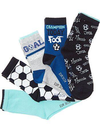 Lot de 5 paires de chaussettes 'Foot' - Kiabi