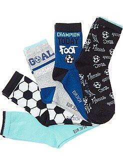 Chaussettes - Lot de 5 paires de chaussettes 'Foot'