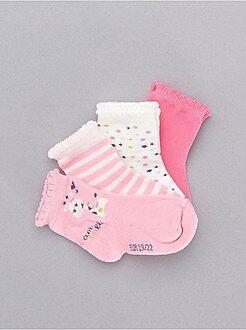 Chaussettes, collants - Lot de 5 paires de chaussettes 'girafe' - Kiabi