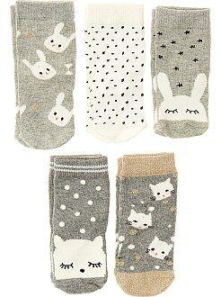 Fille 0-36 mois Lot de 5 paires de chaussettes