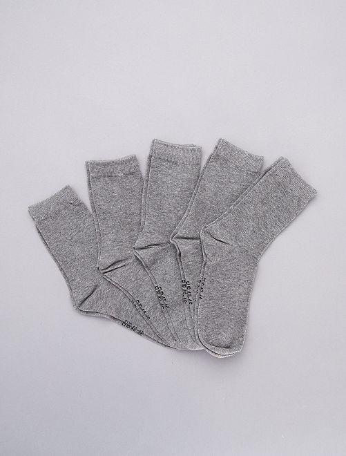 Lot de 5 paires de chaussettes                                                                 gris