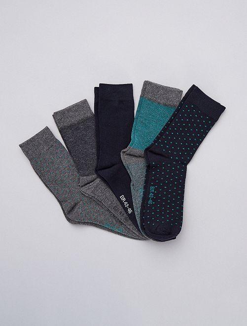 Lot de 5 paires de chaussettes hautes                                                     kaki