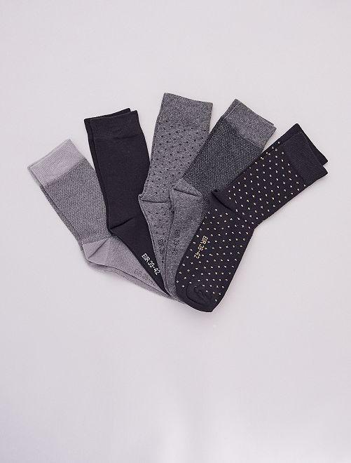 Lot de 5 paires de chaussettes hautes                                                     noir