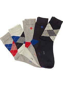 Homme du S au XXL Lot de 5 paires de chaussettes