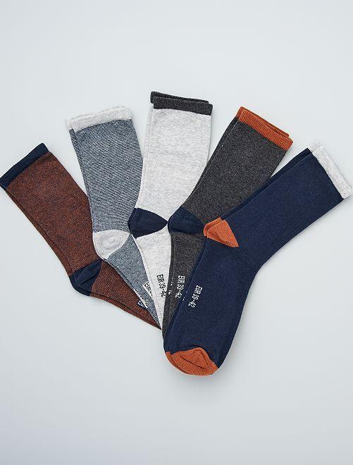 Lot de 5 paires de chaussettes                                                     marron