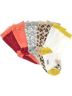 Lot de 5 paires de chaussettes motif fantaisie