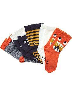 Garçon 18 mois - 5 ans Lot de 5 paires de chaussettes motifs fantaisie
