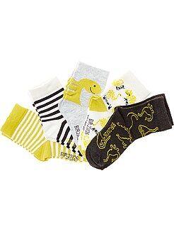 Chaussettes, collants - Lot de 5 paires de chaussettes motifs fantaisie - Kiabi