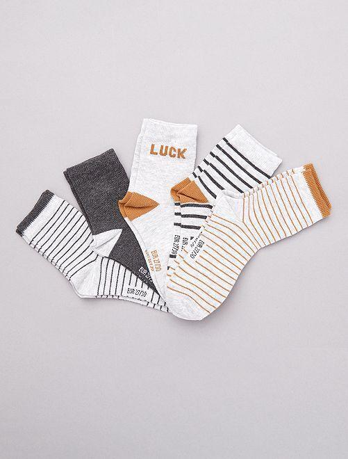 Lot de 5 paires de chaussettes                                                      noir