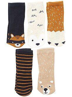 Lot de 5 paires de chaussettes 'renard' - Kiabi