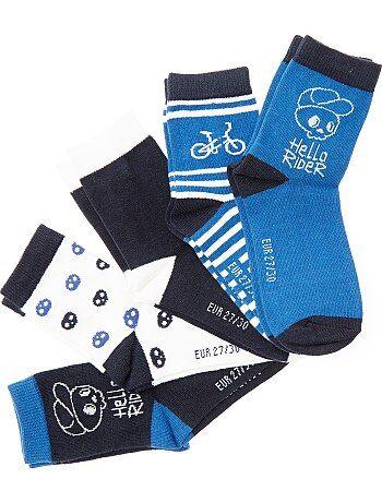 Garçon 3-12 ans - Lot de 5 paires de chaussettes 'vélo' - Kiabi