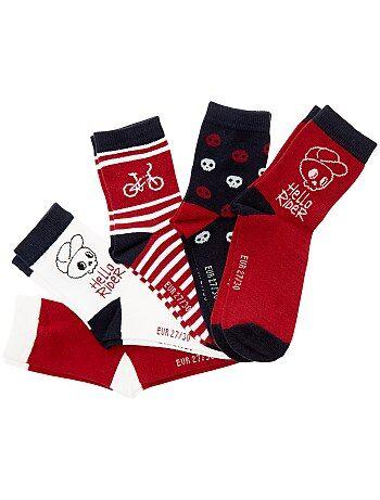 Lot de 5 paires de chaussettes 'vélo' - Kiabi