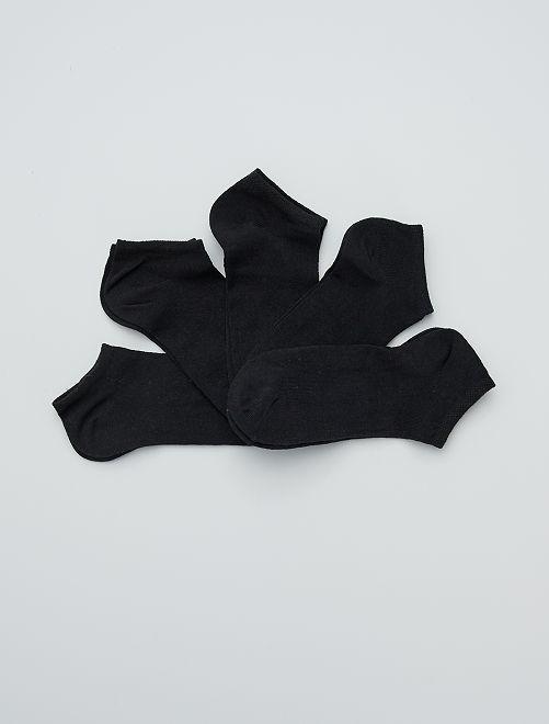 Lot de 5 paires de socquettes                             noir