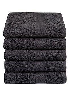 Lot de 5 serviettes pur coton - Kiabi