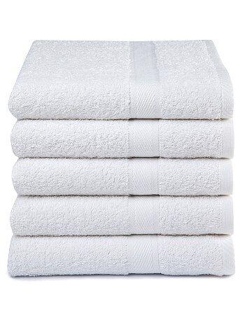 Lot de 5 serviettes pur coton
