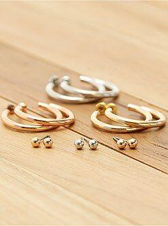 Bijoux - Lot de 6 boucles d'oreilles - Kiabi