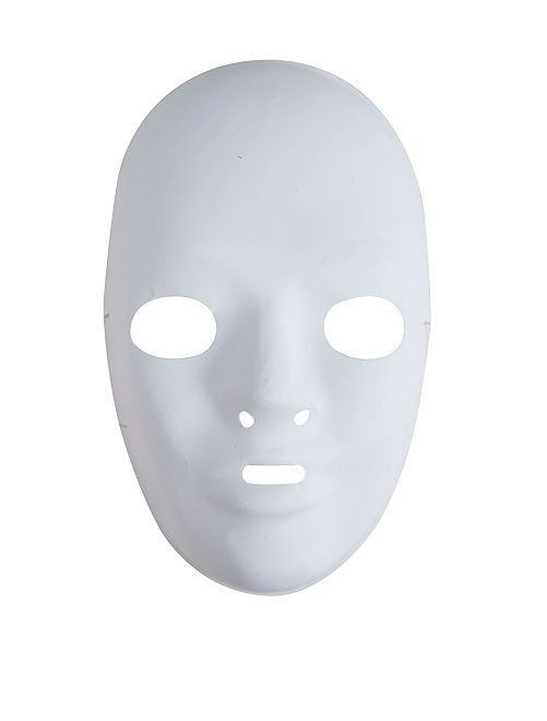 Lot de 6 masques blancs                             blanc