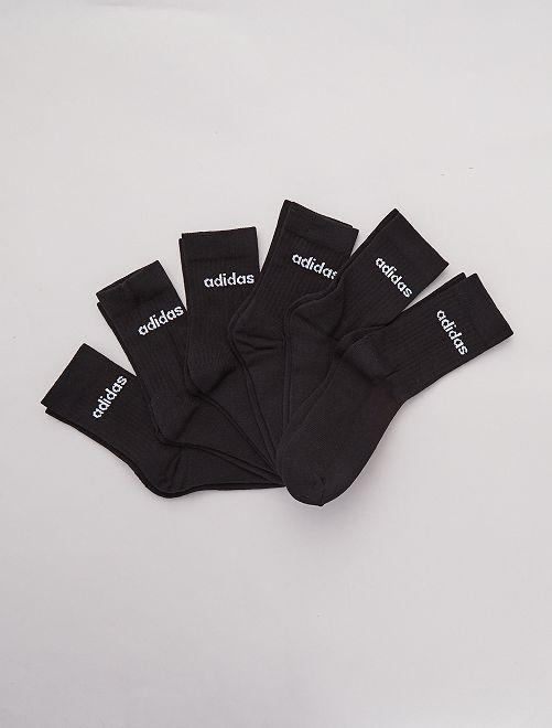 Lot de 6 paires chaussettes 'adidas'                     noir