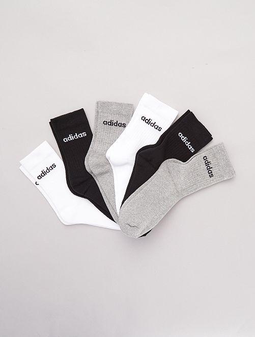 Lot de 6 paires chaussettes 'adidas'                                         noir/gris/blanc