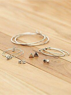 Bijoux - Lot de 6 paires de boucles d'oreilles ! - Kiabi