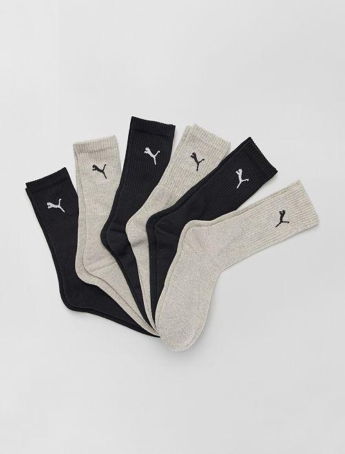 Lot de 6 paires de chaussettes 'Puma'                                                     beige/noir