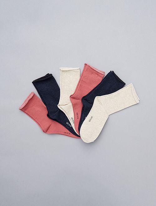Lot de 6 paires de chaussettes                                                                 rose Lingerie du s au xxl