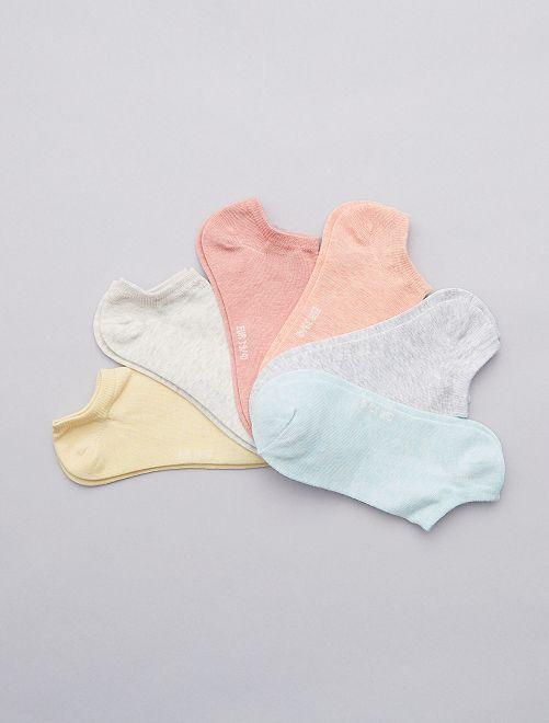 Lot de 6 paires de socquettes                                                                                                                  multicolore Lingerie du s au xxl