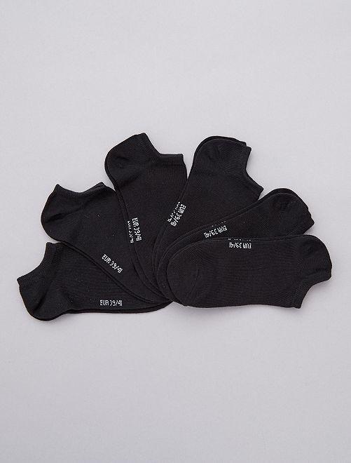 Lot de 6 paires de socquettes                                                                                                      noir
