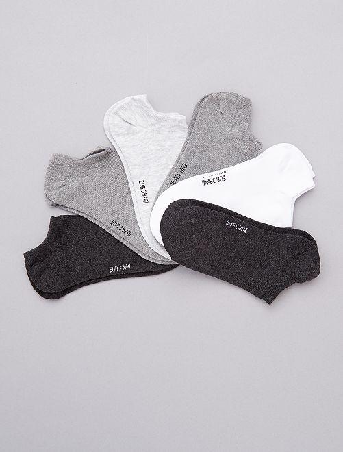 Lot de 6 paires de socquettes                                                                                                                  anthracite/gris/blanc Lingerie du s au xxl