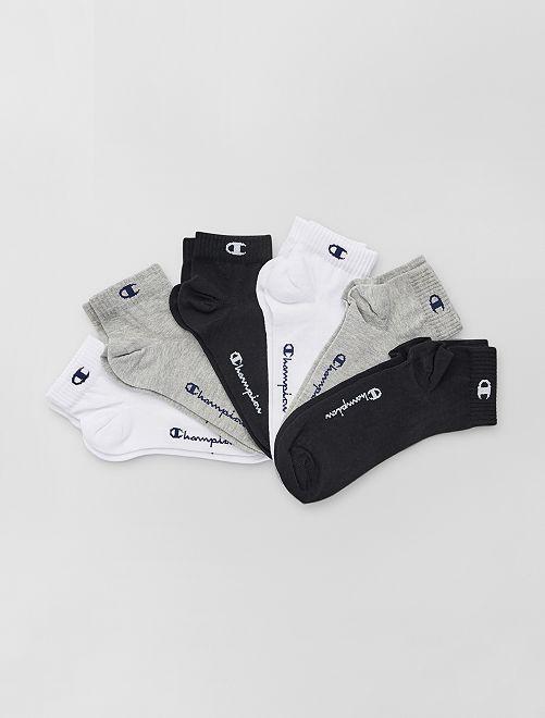 Lot de 6 paires de socquettes 'Champion'                                                     gris/blc/noir
