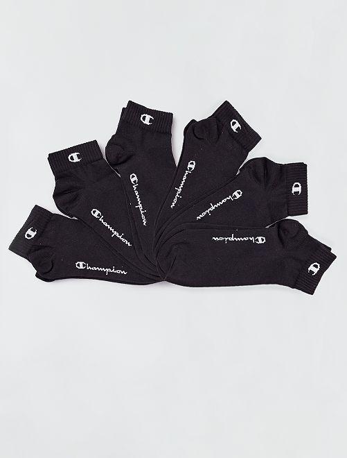 Lot de 6 paires de socquettes 'Champion'                                                     noir