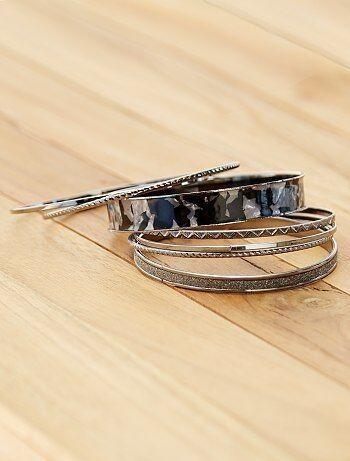 Lot de 7 bracelets rigides
