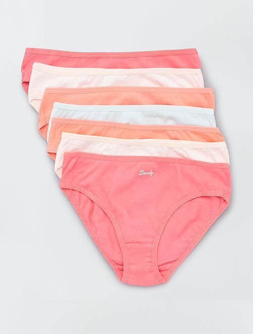 Lot de 7 culottes avec semainier                                                     rose