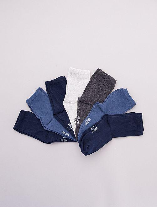 Lot de 7 paires de chaussettes                                         bleu