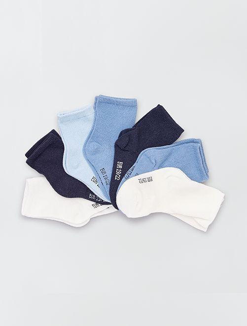 Lot de 7 paires de chaussettes éco-conçu                                         bleu
