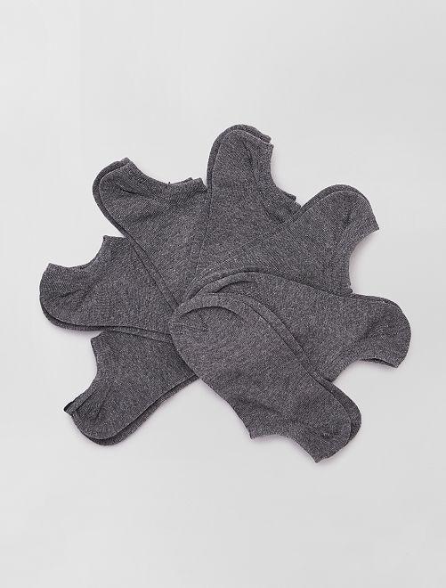 Lot de 7 paires de chaussettes invisibles                                                                 GRIS
