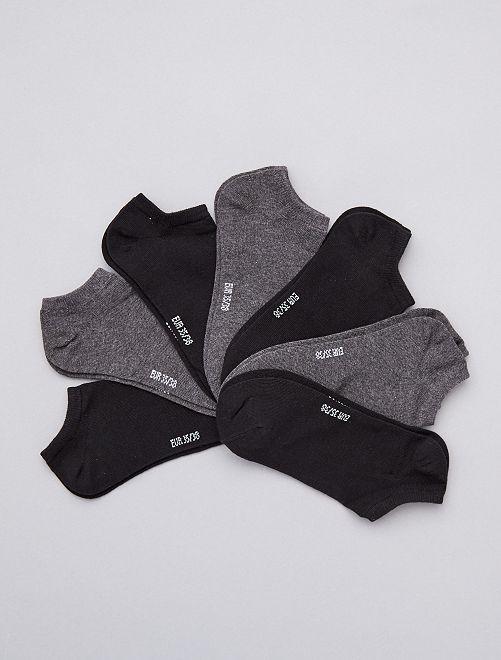 Lot de 7 paires de chaussettes invisibles                                         gris noir