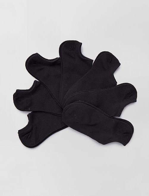 Lot de 7 paires de chaussettes invisibles                                                                 noir