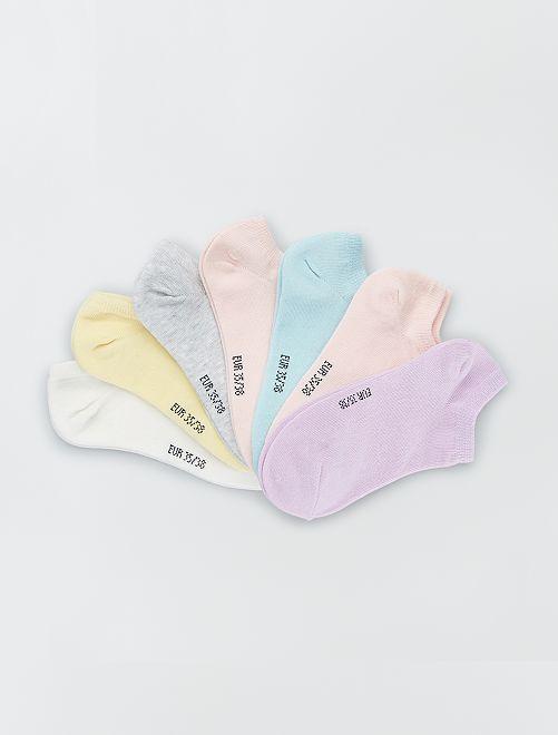 Lot de 7 paires de chaussettes invisibles                                                                                                     rose