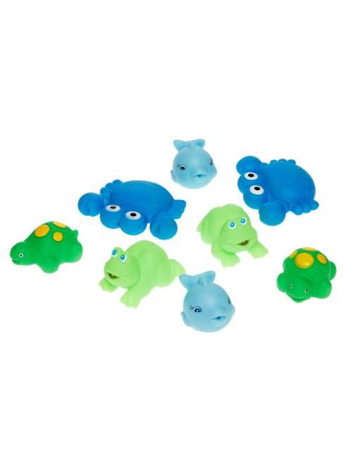 Lot de 8 jouets de bains                                         bleu