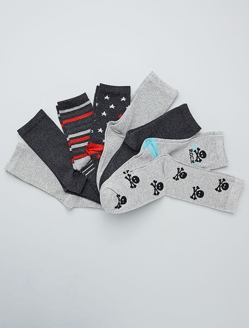 Lot de 8 paires de chaussettes                             gris