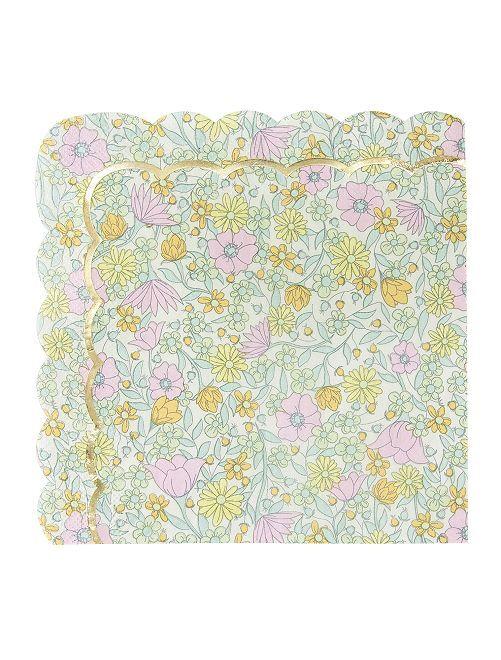 Lot de 8 serviettes en papier                             multicolore